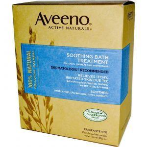 Успокаивающая ванна, 5 пакетов, Aveeno, 42 г