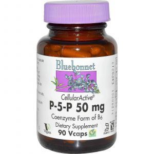 Витамин В6 (пиридоксин), Bluebonnet Nutrition, 90 капс.