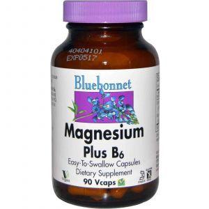 Магний и витамин В-6, Bluebonnet Nutrition, 90кап