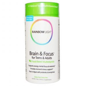 Витамины для мозга подростков, Rainbow Light, 90 т
