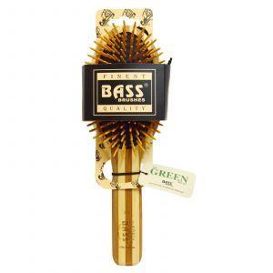 Большая овальная деревянная расчёска, Bass Brushes,  1 шт