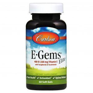 Витамин Е, Vitamin E, Carlson Labs, 400 МЕ,  60  капсул