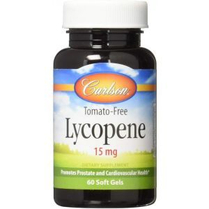 Ликопин, Lycopene, Carlson Labs, 15 мг,  60 гелевых капсул
