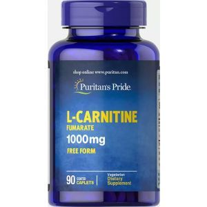 L-карнитин фумарат, L-Carnitine Fumarate, Puritan's Pride, 1000 мг, 90 капсул