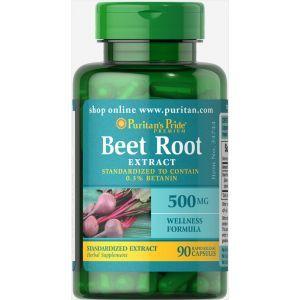 Свекла, экстракт корня, Beet Root Extract , Puritan's Pride, 500 мг, 90 капсул