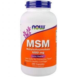 МСМ, Метилсульфонилметан, MSM, Now Foods, 1000 мг, 240 ка