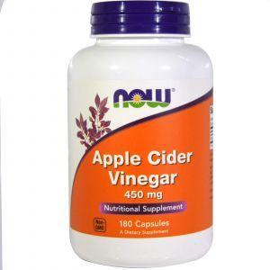 Яблочный сидровый уксус, Apple Cider Vinegar, Now Foods, 450 мг, 180к
