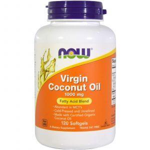 Кокосовое масло, Coconut Oil, Now Foods, органик, 1000 мг, 120 кап