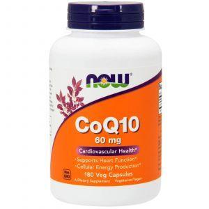 Коэнзим Q10 (CoQ10), Now Foods, 60 мг, 180 капс