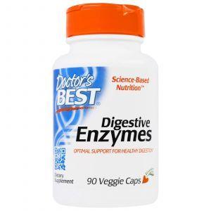Ферменты пищеварительные, Digestive Enzymes, Doctor's Best, 90 капс