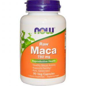 Мака (Maca), Now Foods, вегетарианская, 750 мг, 90 к