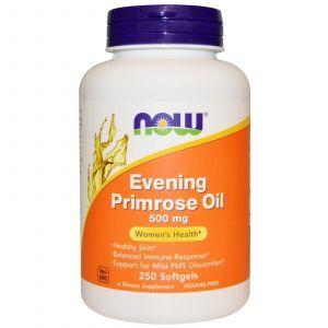 Масло вечерней примулы, Evening Primrose Oil, Now Foods, 500 мг 250 к