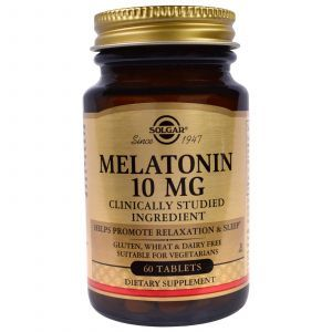 Мелатонин (Melatonin), Solgar, 10 мг, 60 табл