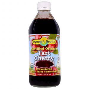 Концентрат вишневого сока, Tart Cherry Juice, Dynamic Health, 100% органик, несладкий, 473 м