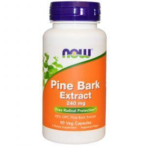 Экстракт сосновой коры, Pine Bark, Now Foods, 240 мг, 90 капсул