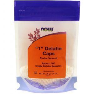 "Пустые капсулы ""1"", ""1"" Gelatin Caps, Now Foods, 500 кап"