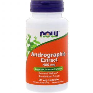 Андографис экстракт, Andrographis, Now Foods, 400 мг, 90 ка