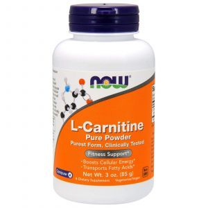 Карнитин, L-Carnitine, Now Foods, 100% чистый порошок, 85