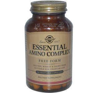 Аминокислотный комплекс, Essential Amino Complex, Solgar, 90 кап