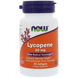 Ликопин (Lycopene), Now Foods, 20 мг, 50 гелевых кап