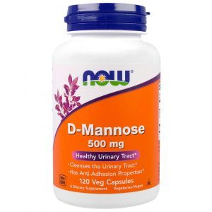 Д-Манноза, D-Mannose, Now Foods, 500 мг, 120 кап