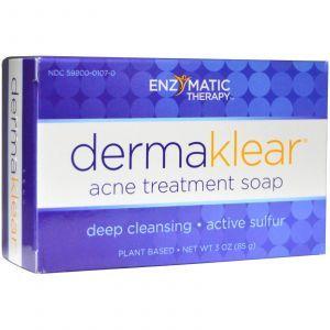 Мыло с серой от акне, DermaKlear Acne, Enzymatic Therapy, (85 г)