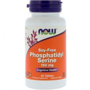 Фосфатидилсерин (Phosphatidyl Serine), Now Foods, 150 мг, 60 таб
