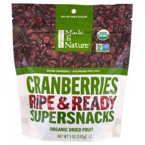 Клюква сушеная, Cranberries, Made in Nature, органик, 142