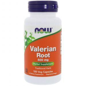 Корень Валерианы, Valerian Root, Now Foods, 500 мг, 100 капс