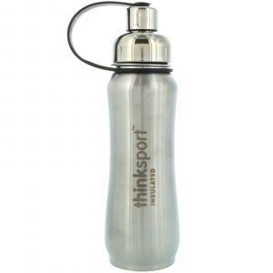 Изолированная спортивная бутылка, Sports Bottle, Think, серебро, 500 м