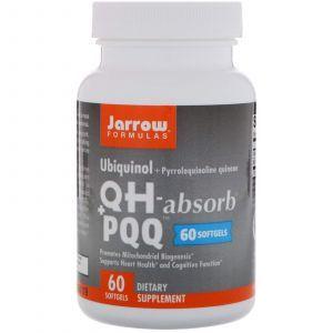 Пирролохинолинхинон и убихинол, Ubiquinol, QH+ PQQ Absorb, Jarrow Formulas, 60 капс