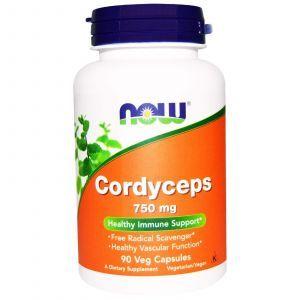 Кордицепс (Cordyceps), Now Foods, 750 мг, 90к