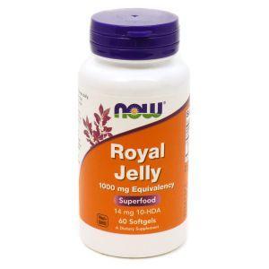 Маточное молочко, Royal Jelly, Now Foods, 1000 мг, 60 гелевых кап