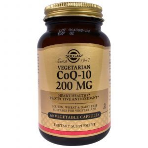 Коэнзим Q10 (CoQ-10), Solgar, 200 мг, 60 капс