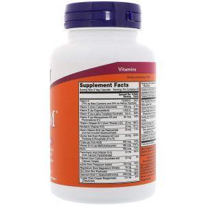 Витамины для мужчин Адам, Adam Men's Multi, Now Foods, 90 капсу
