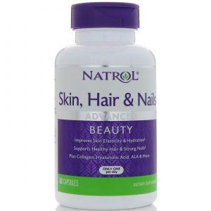 Витамины для волос, кожи и ногтей, Skin, Hair & Nails, Natrol, 60 капсул