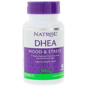 Дегидроэпиандростерон, DHEA, Natrol, 50 мг, 60 табле
