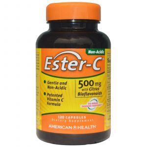 Эстер С флавоноиды, Ester-C, American Health, 500 мг, 120 капсу