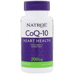 Коэнзим Co-Q10 (убихинол), Natrol, 200 мг, 40 капс
