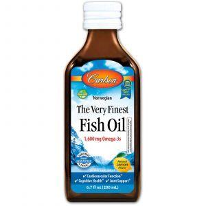 Рыбий жир, Fish Oil, Carlson Labs, норвежский, лимон, 200 м
