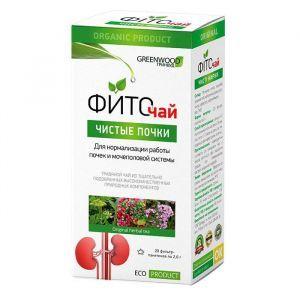 """Чай """"Чистые почки"""", GreenWood, 20 фильтр пакетов по 2 гр"""
