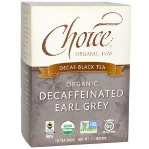 Органический черный чай Седой граф без кофеина, Choice, 16 шт.