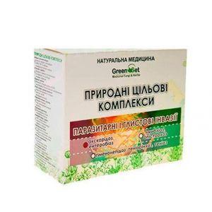 """Природный целевой комплекс """"Аскаридоз, энтеробиоз (острицы, аскариды)"""" Курс 2, GreenSet, растительные препараты, 4 шт"""