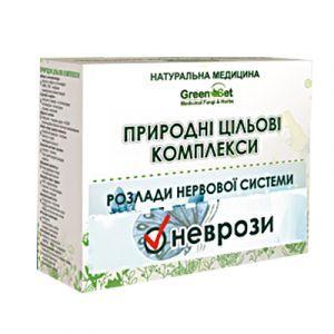 Неврозы (группа общих неврозов), GreenSet, природный целевой комплекс, курс 2, растительные препараты, 4 шт