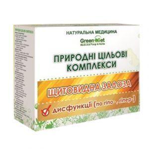 Гипертиреоз (повышенная функция щитовидной железы), GreenSet, природный целевой комплекс, курс 2, растительные препараты, 4 шт
