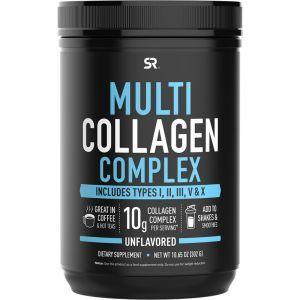 Мульти Коллаген, Multi Collagen Complex, Sports Research, комплекс, шоколад, 465 г