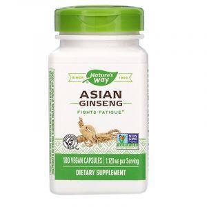 Корейский женьшень, Asian Ginseng, Nature's Way, корень, 560 мг, 100 кап.
