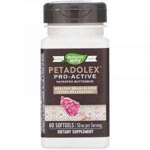 Белокопытник лекарственный, Petadolex, Nature's Way, 50 мг, 60 капсул