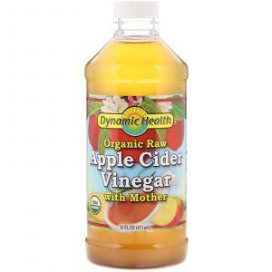 Яблочный уксус, Apple Cider, Dynamic Health Laboratories, органик, 473 мл
