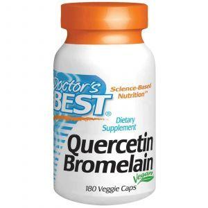 Кверцетин и бромелайн, Doctor's Best, 180 капсул